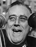 Photograph of FDR in 1940